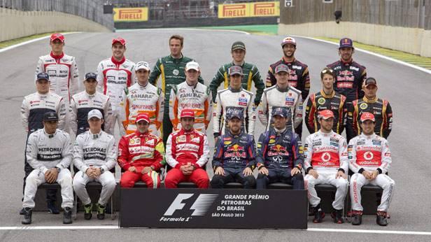 Gruppenfoto vor dem GP in Sao Paulo