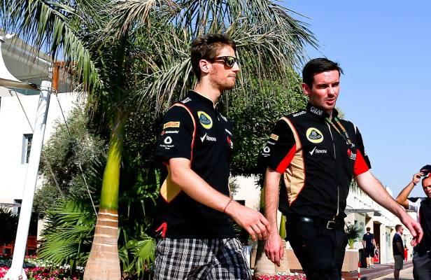 Romain Grosjean: Entspannt in Abu Dhabi angekommen, entspannt das 1. Training gewonnen.