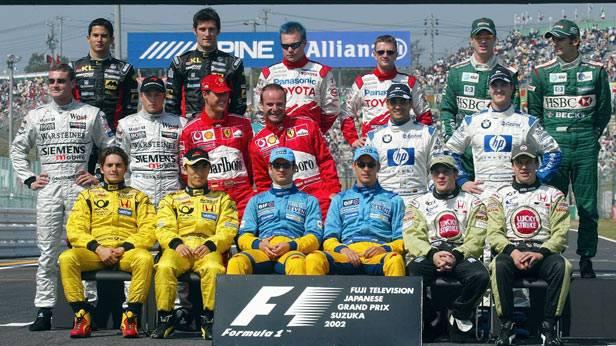 Gruppenfoto der Formel 1 2002