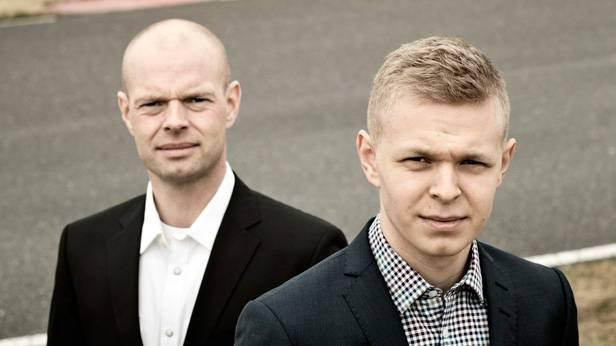 Jan Magnussen mit seinem Sohn Kevin Magnussen