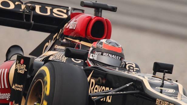 Kimi Räikkönen im Lotus beim Training zum GP Abu Dhabi