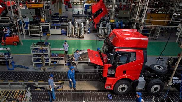 Ein Lkw-Werk in Chanchun