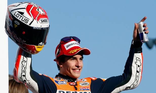 MotoGP-Rookie Marc Marquez könnte am Sonntag besonderen Grund zum Feiern bekommen.