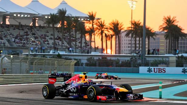Mark Webber während dem Qualifying zum GP von Abu Dhabi