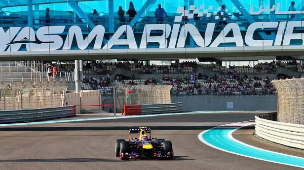 Mark Webber beim GP von Abu Dhabi