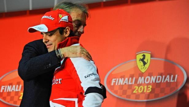 Ferrari-Präsident Montezemolo beim Verabschieden