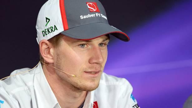 Nico Hülkenberg bei der Pressekonferenz am Nürburgring