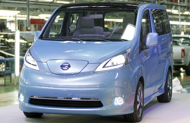 Der Nissan e-NV200, ein rein elektrischer Kleintransporter, wird in Barcelona produziert.