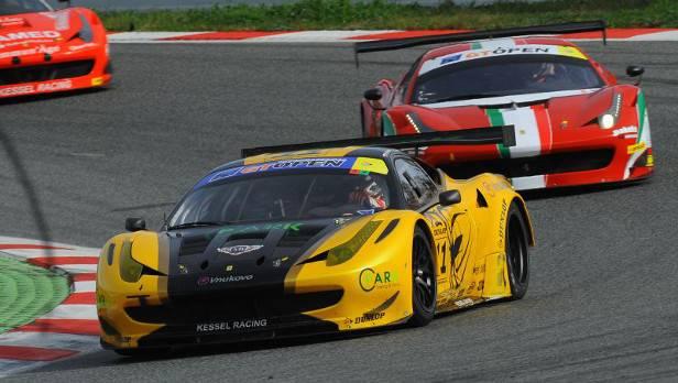 Peter/Bronizewski hatten gehofft, vom 19. Startplatz in die Punkteränge zu kommen, schieden aber nach einem technischen Defekt an ihrem Ferrari aus.