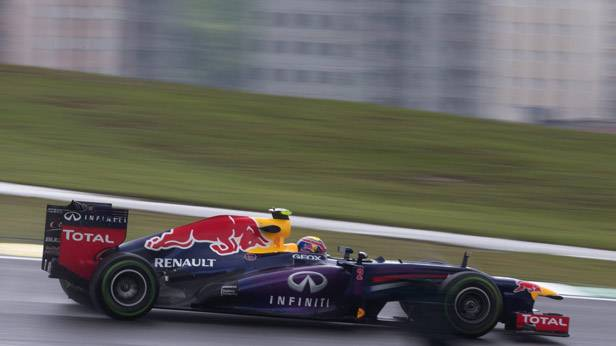 Mark Webber im Training für den Grand Prix von Brasilien