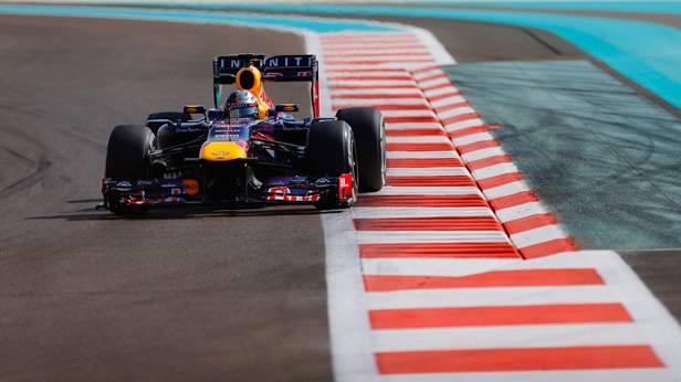Sebastian Vettel beim Training zum GP von Abu Dhabi