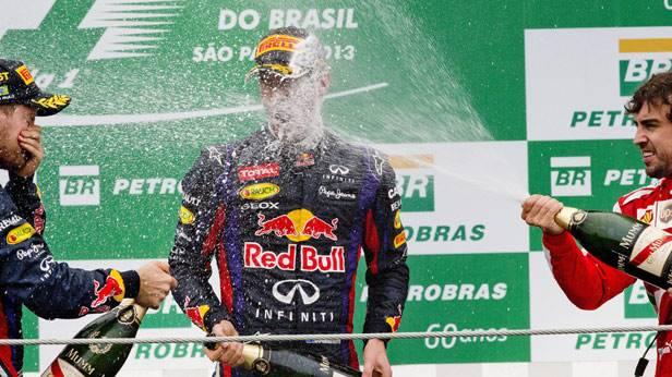 Siegerehrung vom Grand Prix von Brasilien