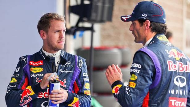 Sebastian Vettel und Mark Webber beim Grand-Prix von Süd Korea