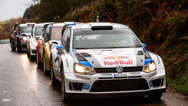 Sebastien Ogier bei der Wales-Rallye