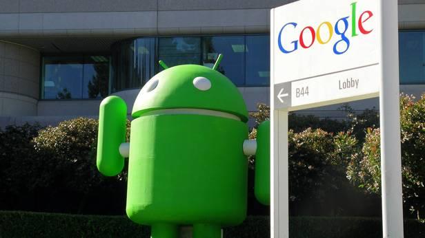 Android Robotermännchen vor der Google-Zentrale