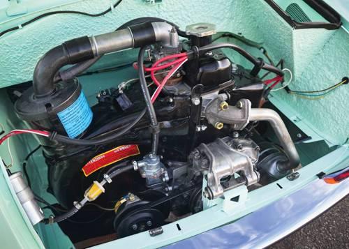 autobianchi bianchina bianchi motor motorraum