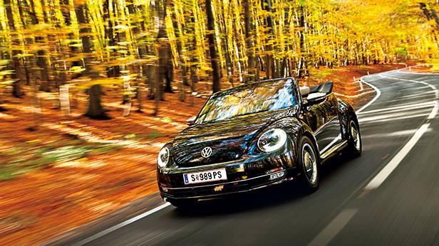 vw beetle cabriolet 1,6 TDI 50s vw beetle cabriolet 1,6 TDI 50s vorne seite