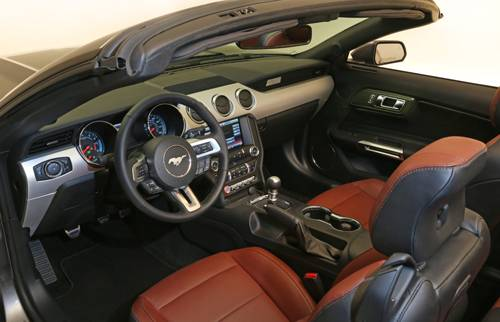 ford mustang 2015 cabrio cockpit innenraum