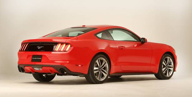 ford mustang 2015 coupe heck hinten seite