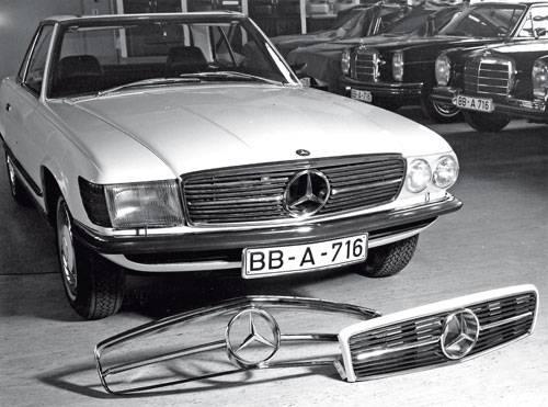 Mercedes SL SLC R107 C107 zubehoer us scheinwerfer