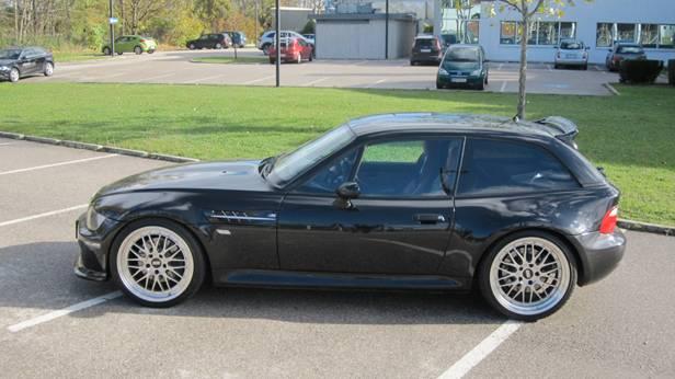 bmw z3 m coupe schwarz seite