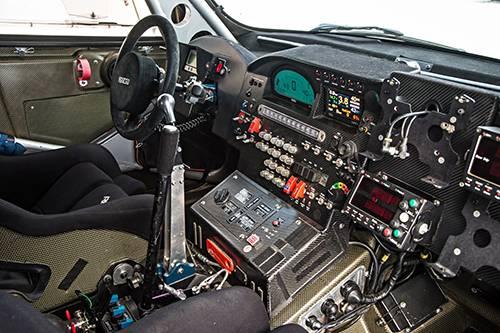 mini all4 racing dakar 2014 cockpit innen innenraum