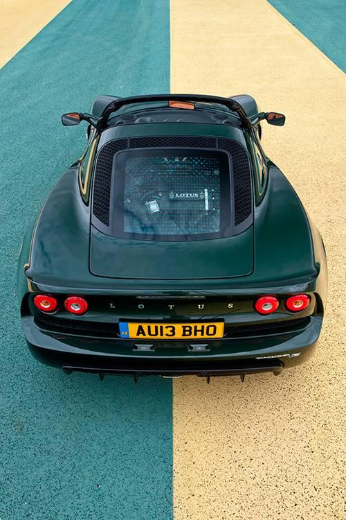 lotus exige s roadster 2014 heck hinten oben