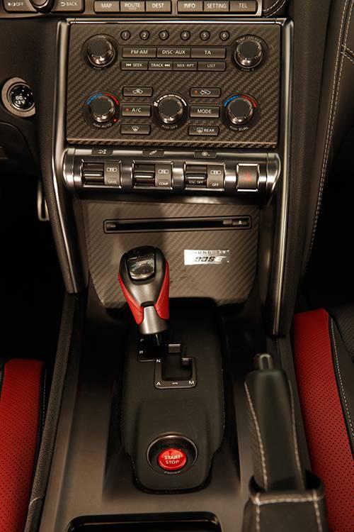 Nissan GT-R 2013 Premium Pack mittelkonsole schalthebel