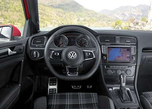 vw golf gtd 2013 rot cockpit innenraum