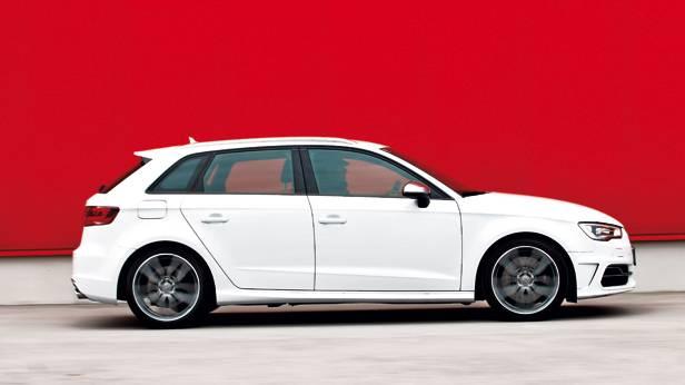 Audi S3 Sportback 2014 weiß seite seitlich