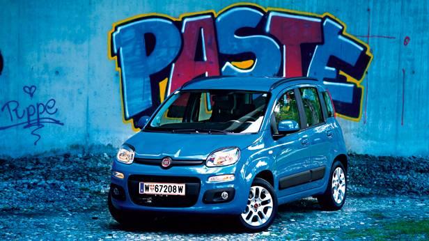 Fiat Panda Twinair blau front vorne seite