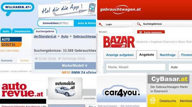Die 13 größten Gebrauchtwagen-Marktplätze in Österreich