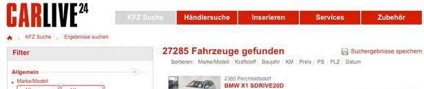 gebrauchtwagen carlive24 Die 13 größten Gebrauchtwagen Marktplätze in Österreich