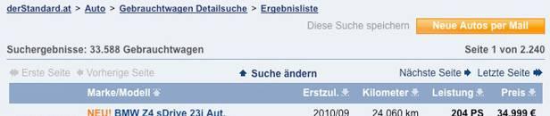 _gebrauchtwagen_derstandard - Screenshot