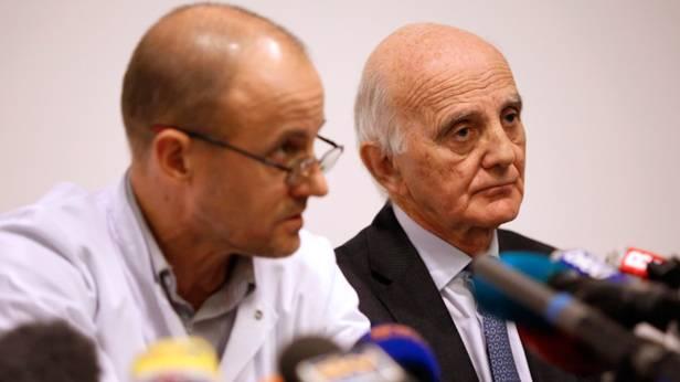 Gerard Saillant (R) und Jean-Francois Payen (L) bei der Pressekonferenz