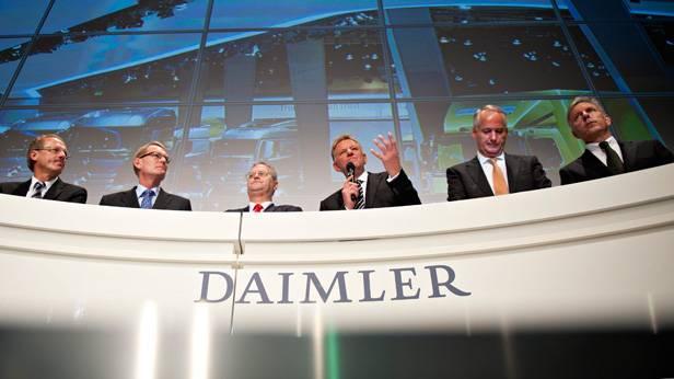 Daimler Vorstände bei der IAA 2012