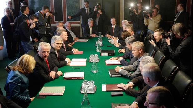 Koalitionsverhandlung zwischen SPÖ und ÖVP