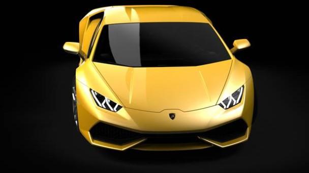 Der Lamborghini Huracan von vorne