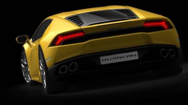 Der Lamborghini Huracan von hinten