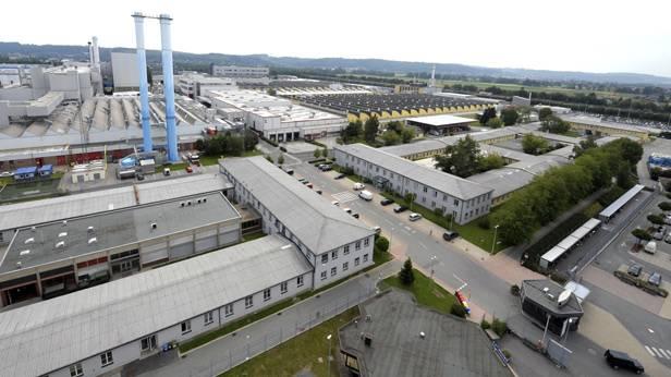 Luftaufnahme des Magna Steyr Werk