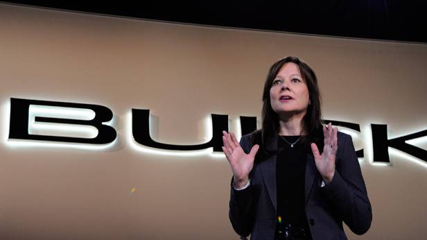 Mary Barra bei der North American International Auto Show 2012