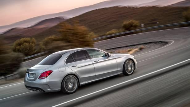 Die Mercedes-Benz C-Klasse 2014, Die Mercedes-Benz C-Klasse 2014, von der Seite.