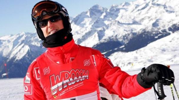 Michael Schumacher 2006 beim Skirennen in Madonna di Camiglio (Italien)