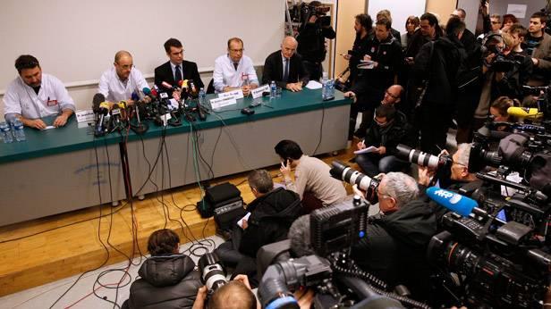 Pressekonferenz zum Unfall von Michael Schumacher