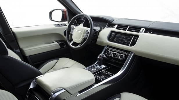 Der Range Rover Sport SD V8 innen