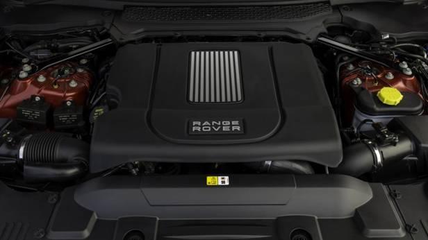 Der Motor des Range Rover Sport SD V8
