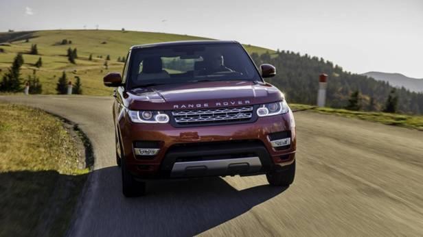 Der Range Rover Sport SD V8 von vorne