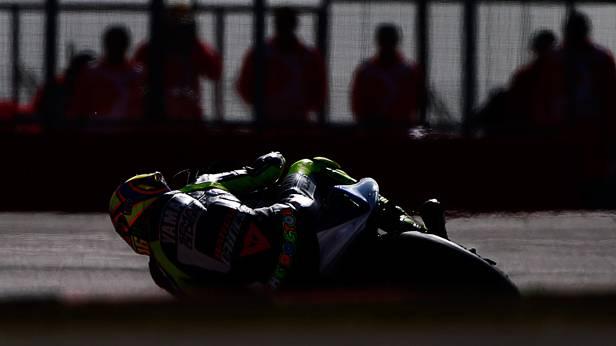 Valentino Rossi beim MotoGP in Silverstone