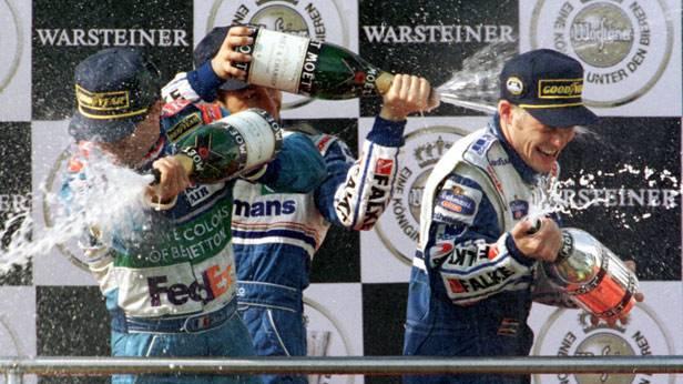 Siegerehrung des GP Luxemburg 1997