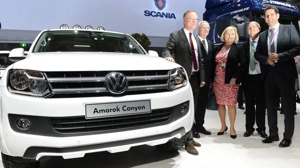 Der VW Amarok Canyon auf einer Messe